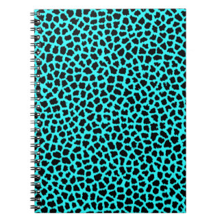 Leopard Print Neon tBlue Note Book