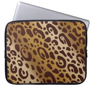 Leopard Print Neoprene Laptop Sleeve