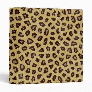 leopard print notebook binder