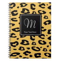 Leopard print notebook   Monogram animal print