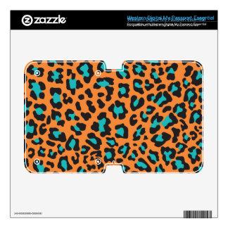 Leopard Print Orange, Black, Aqua WD My Passport Skins