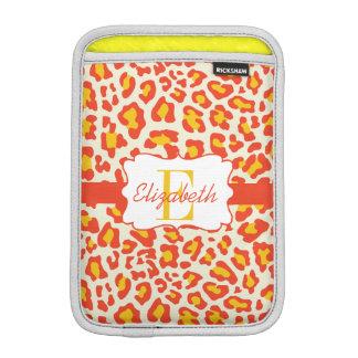 Leopard Print Orange Yellow White iPad Mini Sleeve