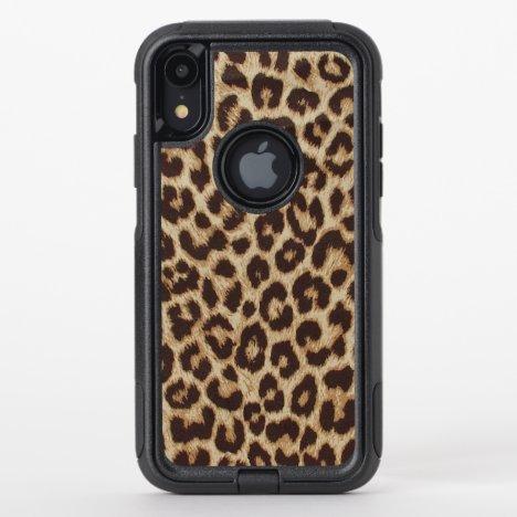 Leopard Print OtterBox Commuter iPhone XR Case