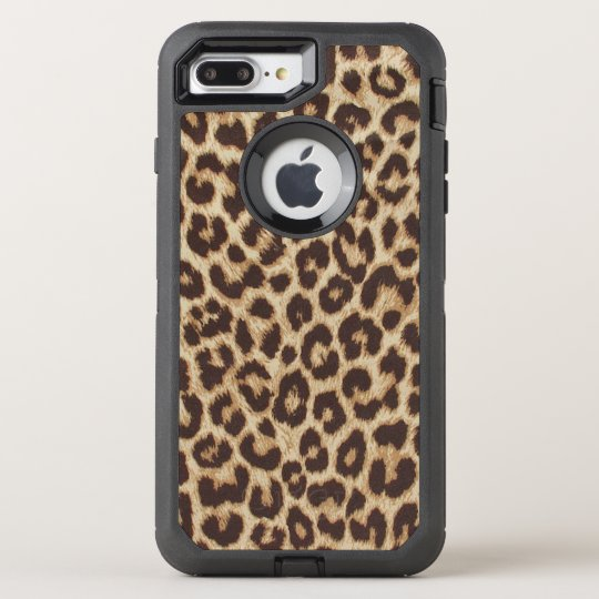 official photos d00a0 74bc2 Leopard Print OtterBox Defender iPhone 7 Plus Case