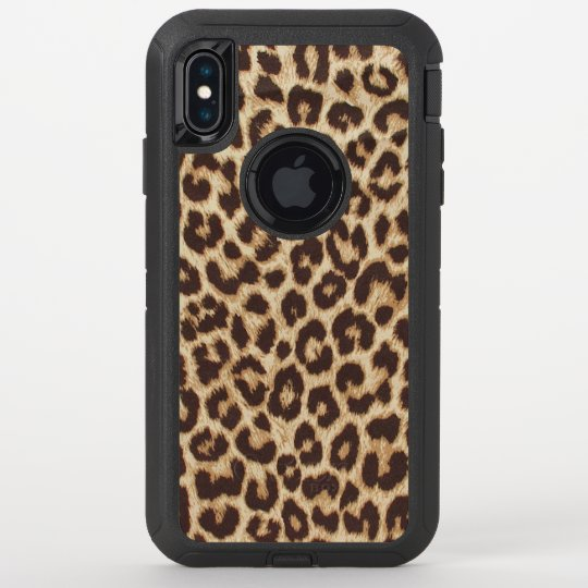 cheap for discount 468a7 5c307 Leopard Print OtterBox Defender iPhone XS Max Case