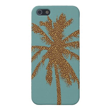 Beach Themed Leopard Print Palm Tree iPhone SE/5/5s Cover