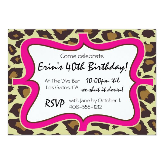 Leopard Print Party Card