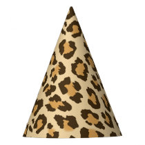 Leopard Print Party Hat