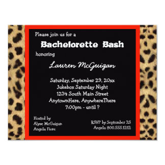 Leopard Print Party Invitation