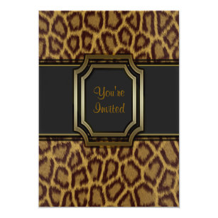 Leopard Print 40th Birthday Invitations Zazzle