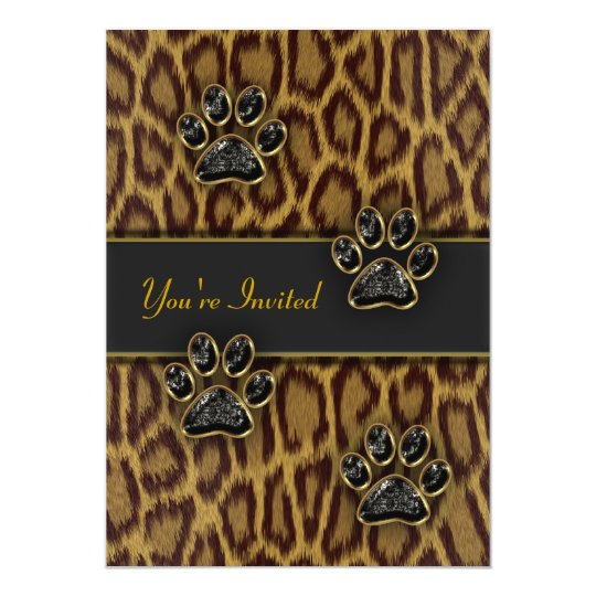 Leopard Print Party Template