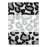 Leopard Print Pattern, Black and Gray. Announcements
