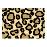 Leopard Print Pattern, Brown and Black. Large Business Cards (Pack Of 100)