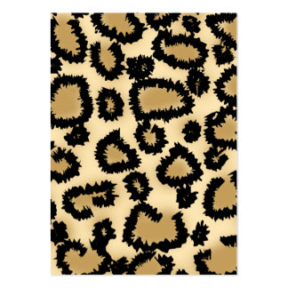 Leopard Print Pattern, Brown and Black. Business Card Template