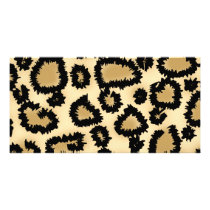 Leopard Print Pattern, Brown and Black. Card