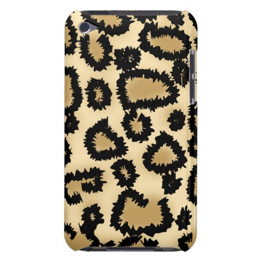 Leopard Print Pattern, Brown and Black. Barely There iPod Cover
