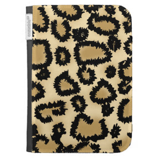 Leopard Print Pattern, Brown and Black. Kindle 3G Cover