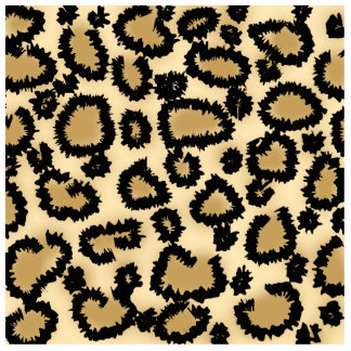 Leopard Print Pattern, Brown and Black. Cutout