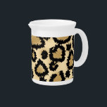 """Leopard Print Pattern, Brown and Black. Drink Pitcher<br><div class=""""desc"""">Brown leopard print pattern. Black leopard spots on a background in brown and beige shades. Trendy animal print design pattern.</div>"""