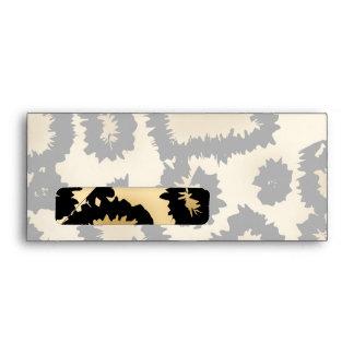 Leopard Print Pattern, Brown and Black. Envelope