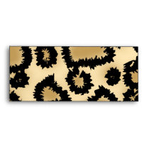 Leopard Print Pattern, Brown and Black. Envelope