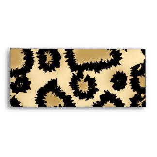 Leopard Print Pattern, Brown and Black. Envelopes