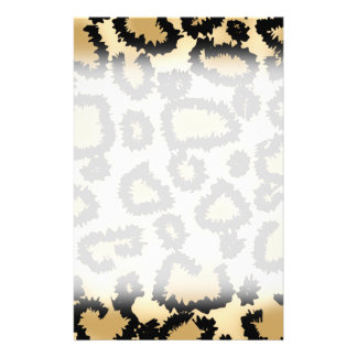 Leopard Print Pattern, Brown and Black. Personalized Flyer