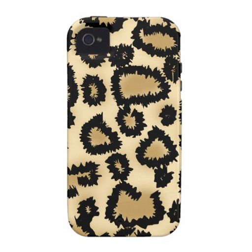 Leopard Print Pattern, Brown and Black. iPhone 4 Covers
