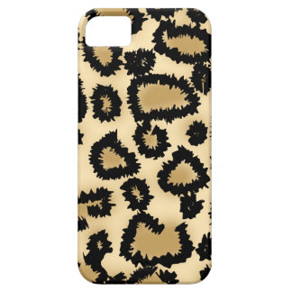 Leopard Print Pattern, Brown and Black. iPhone SE/5/5s Case