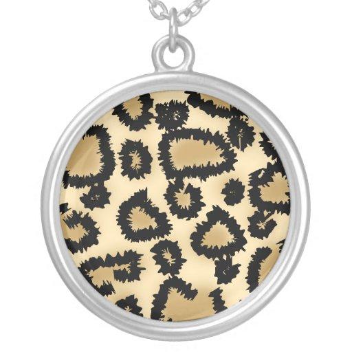 Leopard Print Pattern, Brown and Black. Jewelry