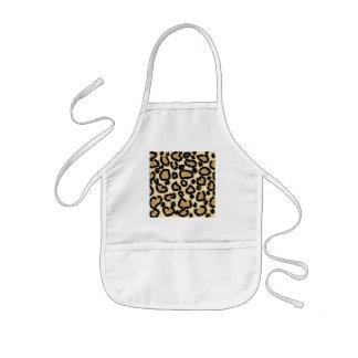 Leopard Print Pattern, Brown and Black. Kids' Apron