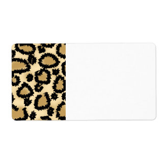 Leopard Print Pattern, Brown and Black. Shipping Labels
