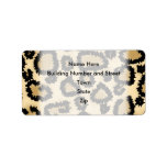 Leopard Print Pattern, Brown and Black. Personalized Address Labels