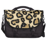 Leopard Print Pattern, Brown and Black. Commuter Bag