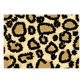 Leopard Print Pattern, Brown and Black. Large Business Card