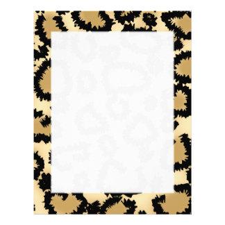Leopard Print Pattern, Brown and Black. Letterhead