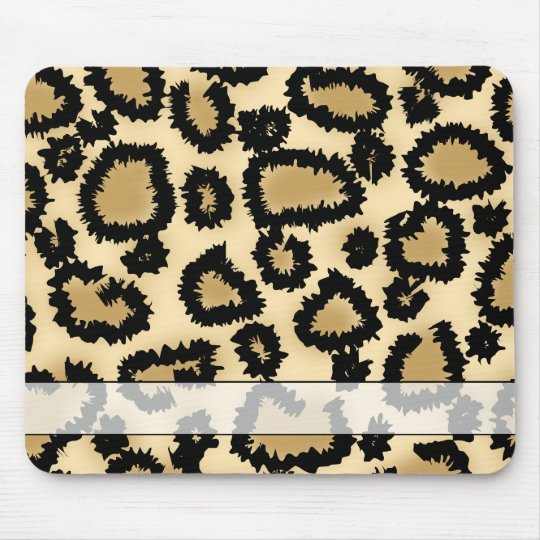 Leopard Print Pattern, Brown and Black. Mouse Pad