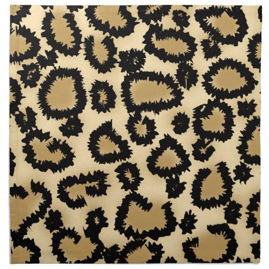 Leopard Print Pattern, Brown and Black. Napkin