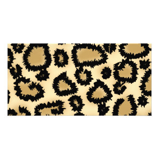 Leopard Print Pattern, Brown and Black. Photo Card