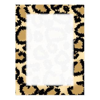 Leopard Print Pattern, Brown and Black. Postcard