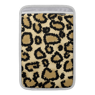 Leopard Print Pattern, Brown and Black. Sleeve For MacBook Air