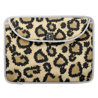 Leopard Print Pattern, Brown and Black. Sleeve For MacBooks