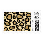 Leopard Print Pattern, Brown and Black. Stamp