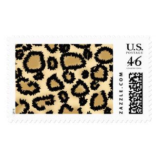 Leopard Print Pattern, Brown and Black. Stamp