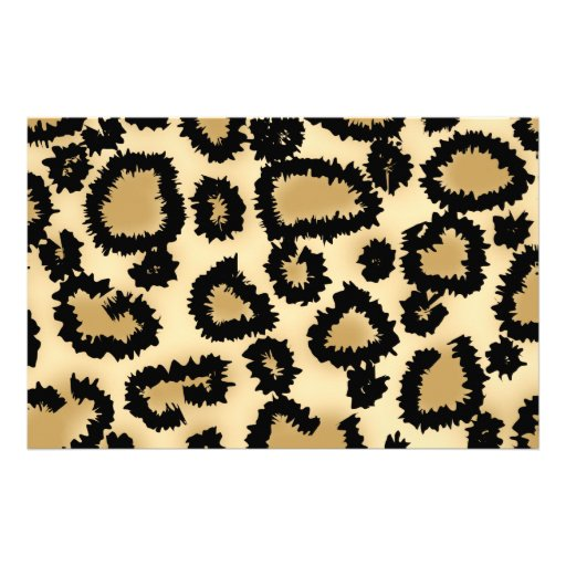 Leopard Print Pattern, Brown and Black. Stationery