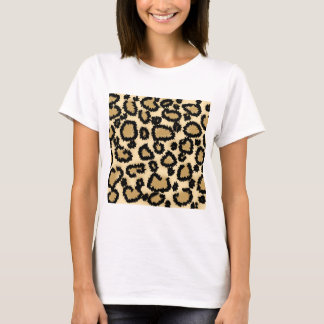 Leopard Print Pattern, Brown and Black. T-Shirt