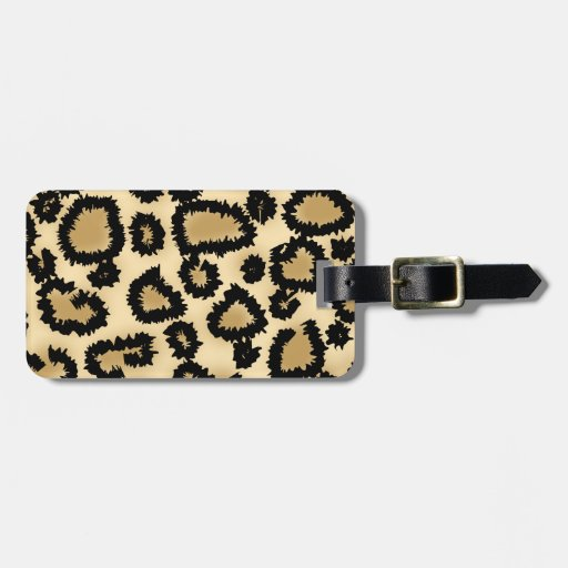 Leopard Print Pattern, Brown and Black. Tag For Luggage
