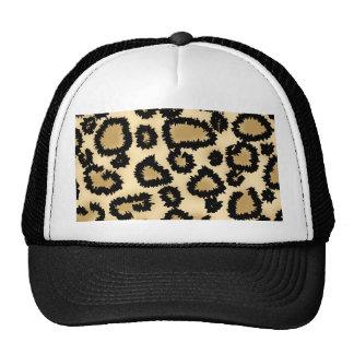 Leopard Print Pattern, Brown and Black. Trucker Hat