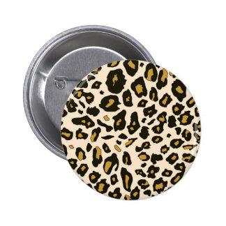 Leopard print pattern 2 inch round button