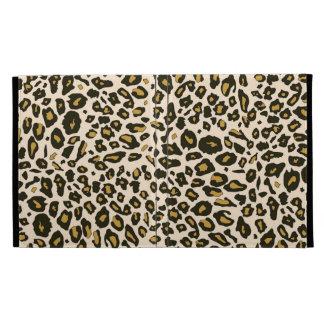 Leopard print pattern iPad folio cases